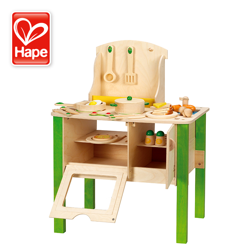 The German Hape Kitchen Set Play Toys Children S Baby Most Loves Simulation Wooden Ings In Furniture From Hobbies On Aliexpress