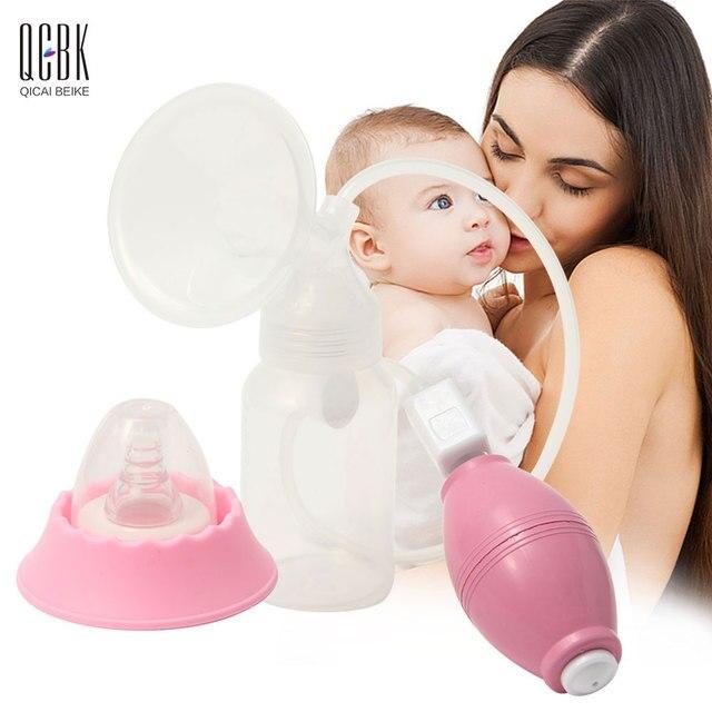 150ML Manual Breast Pump Nursing Squeezing Pump Baby Feeding Breast Strength Milk Bottle Nipple Suck Breast-Feeding BPA Free