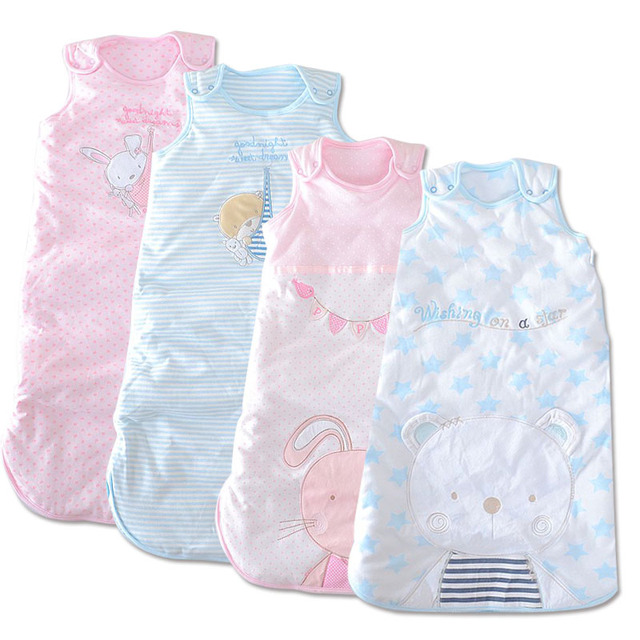 Free Shipping 2 Pieces/lot 0-12months infant winter Gear baby brand sleeping bag thick warm baby envelope quilt