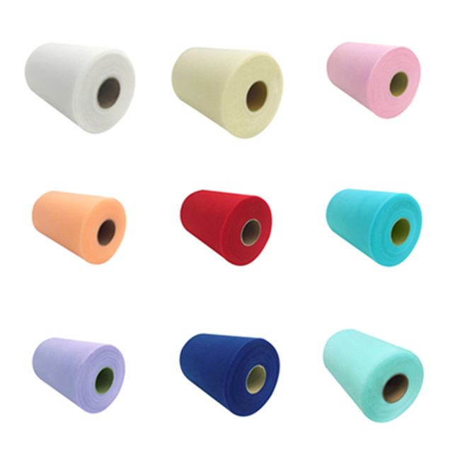 Tulle Roll Fabric 15 Cm 100 Yards DIY White Organza Tulle Roll Spool for Tutu Dress Wedding Decoration Birthday Party Supplies
