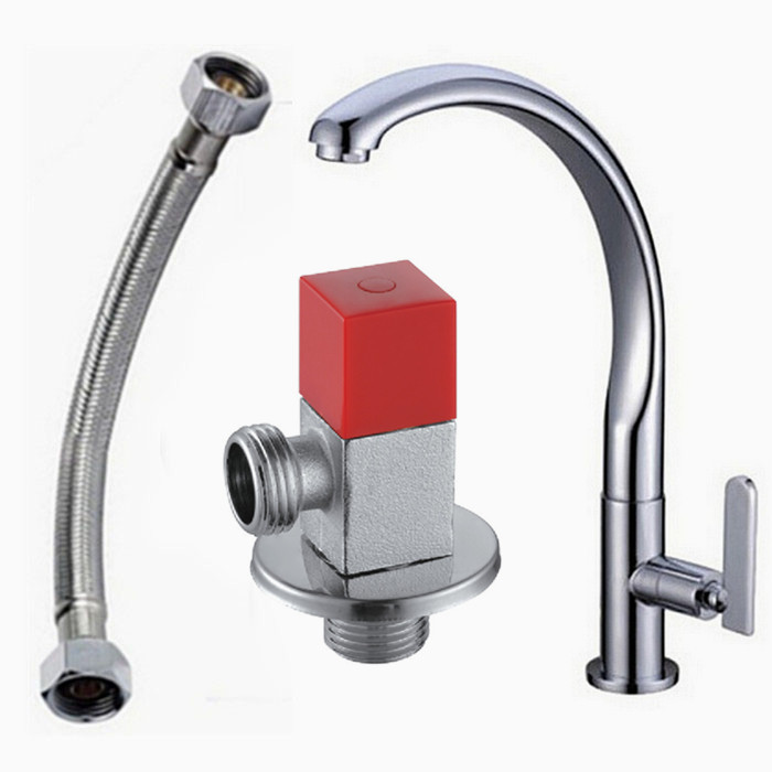 Free shipping swan leading cold kitchen faucet single handle single hole kitchen tap 360 rotate Kitchen