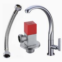 Лебединое ведущих холодная кухня кран одинарная ручка смеситель для ванны с одним отверстием кухня затычка 360 вращающийся кухня faucets BR-9114 SF518-1