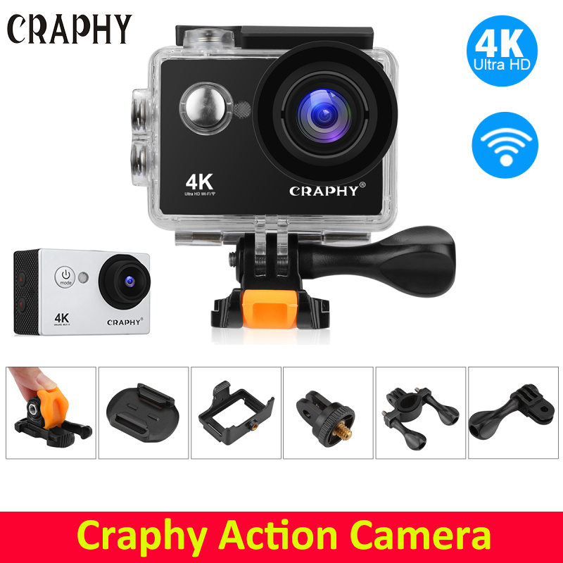 CRAPHY W9S 4K Wifi Action Camera Sunplus 6330 Ultra HD 4K ...