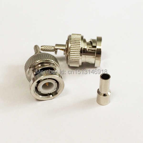 1ピースbncオスプラグrf同軸コネクタ圧着rg316、rg174、lmr100ストレートnickelplated新しい卸売
