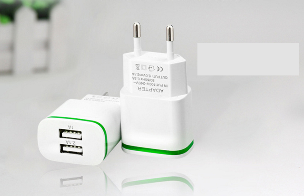 5V 2.1A Smart Travel Dual 2 USB Charger Adapter Wall Portable EU Plug <font><b>Mobile</b></font> <font><b>Phone</b></font> for <font><b>Nokia</b></font> 3 <font><b>3310</b></font> 2017 5 6 Lumia 530 630 635