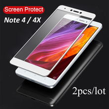 2-Pack Premium Glass for Xiaomi Redmi Note 4X /Redmi 4 Screen Protector For 4A Pro Full Protective