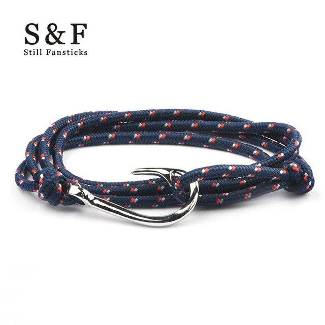Bracelet Silver Anchor Hook Bracelets For Women Men Jewelry Handmade Femme Pulseira Joyeria Homme Mens Friendship