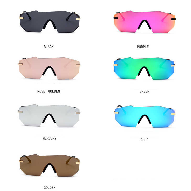57f9100dd06 ... ROYAL GIRL Sunglasses Women 2018 New Brand Designer Unique Rimless Sun Glasses  Men Mirrored Lens Oversize ...