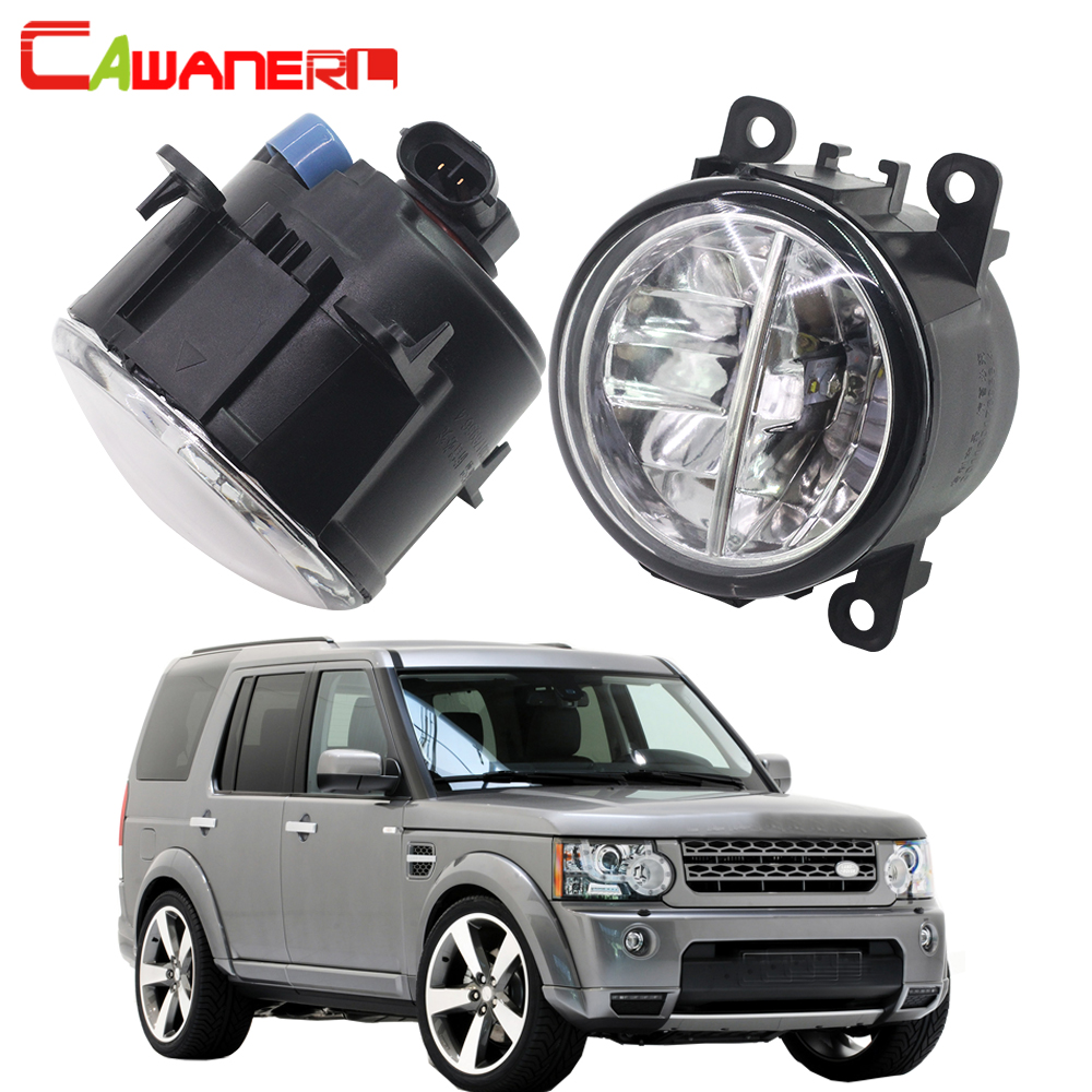 Cawanerl Car LED Fog Light Daytime Running Light DRL For Land Rover Discovery 4 LR4 SUV (LA) Closed Off-Road Vehicle 2010-2013 brand new universal 40 w 6 inch 12 v led car work light daytime running lights combo light off road 4 x 4 truck light