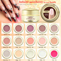 15ml CANNI UV Builder Gel Natural Nude Pastel Color Camouflage UV Strong Gel Acrylic for Nail Art Gel False Tips Extension 12PCS