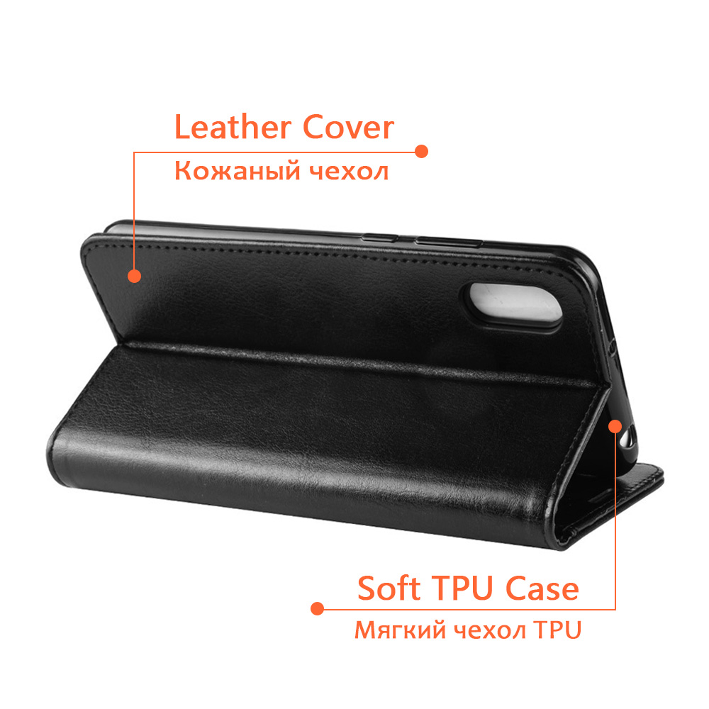 KOC3572_5_Wallet Leather Case with Card Slots and Stand for Cubot X19