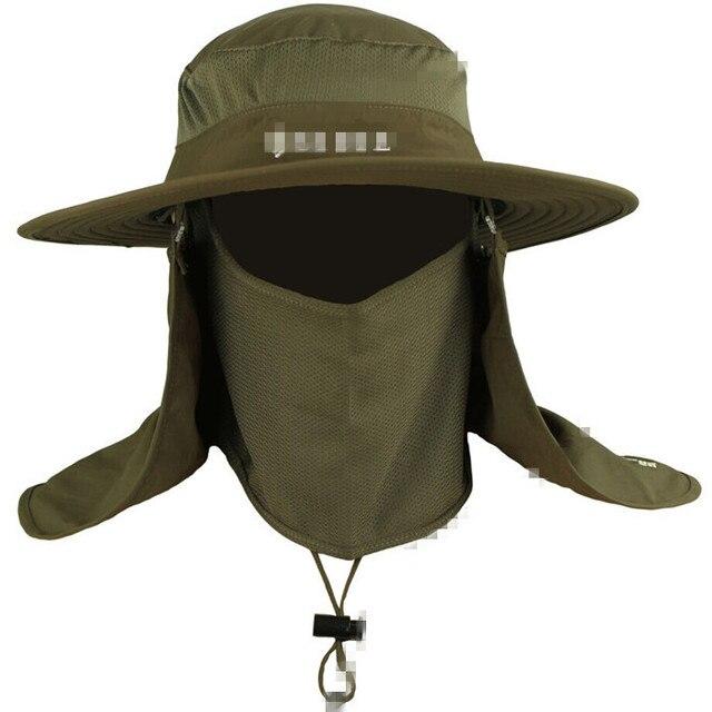 Removível Chapéu Pescador Chapéu Selva Chapéu Mato Chapéu Cap Chapéu  Sun-Proteção À Prova D cd26691a435