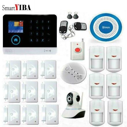 SmartYIBA WIFI/GSM//GPRS Intranet Home Burglar Alarm System With Wireless Smoke Detector Panic Button Door/Window Sensor Alarm intranet as groupware