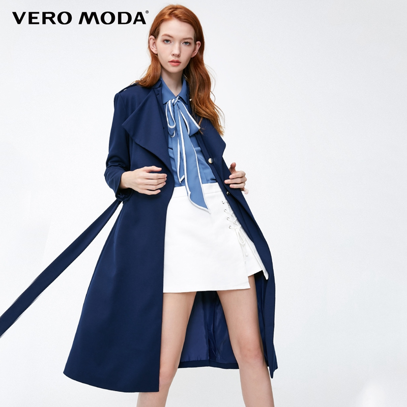 Vero Moda Women s Fake Two piece Buckled Lapel Coat 318421501
