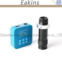 36MP 1080P Industrial Digital Microscope Camera 4K HDMI USB Output Video Camera +1 100X Zoom C mount Lens For Phone Repair