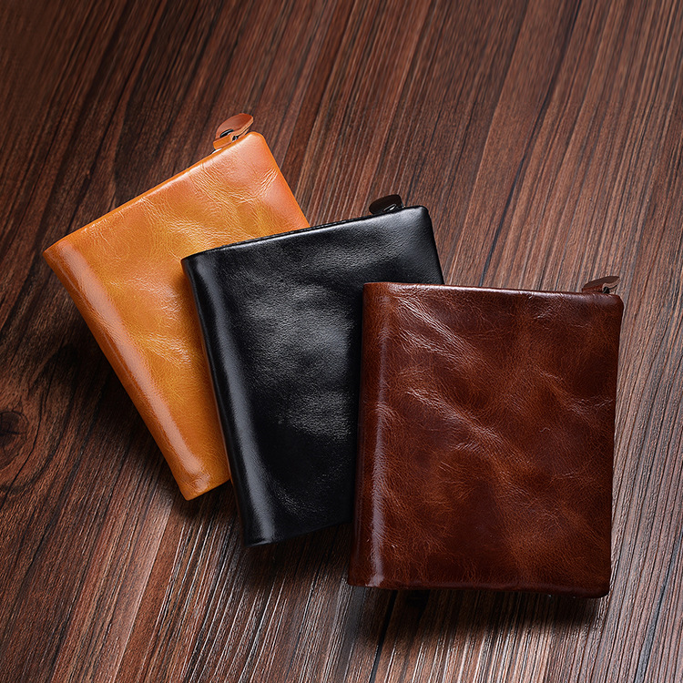 New Genuine Leather Wallet Men Card Holder and Coin Purse Short Small Vintage Wallets Brand High Quality Cow Leather Male Wallet 2017 new wallet men purse fashion leather 6 card holder sim card holder brand wallet men split cow leather purse small purses