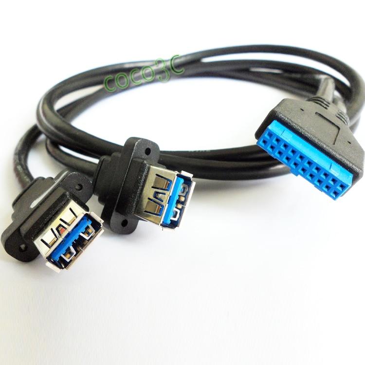 Mini PCIe a adaptador USB 3.0 dual mini PCI-e a 19Pin USB3.0 - Cables de computadora y conectores - foto 2