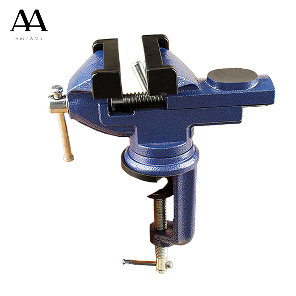AMYAMY Mini Table Vice Bench Screw Bench Vise for DIY Jewelries Craft mould Fixed Repair Tool cast iron body 360 angle rotate  mini table vice aluminium alloy bench vise universal machine mini fixed repair tool widely used for diy craft clamp vise
