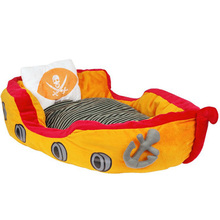 Newest Pirate ship design kennel Pet Waterloo Dog and Cat Bed soft material Warm Mat detachable Cotton Pet Animal House CW-80025