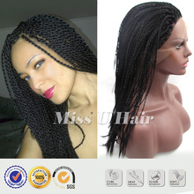 Afro twist braid synthetic havana twist lace wig kinky twist hair senegalese twist wig