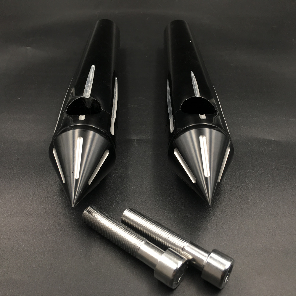 "2 1//4/"" Chrome Spike Handlebar Risers For Harley Softail Dyna Sportster Custom 1/"""