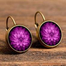 Floral Mandala Round Earrings