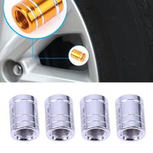 Новый 4 шт./упак. theftproof Алюминий колеса автомобиля Покрышки Клапаны шин стволовых воздуха Caps герметичной крышкой Авто Мото герметичный воздуха шапки