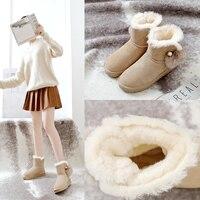 MYCORON женская обувь зимние теплые высокое качество Женские снегоступы замшевые ботильоны для Женская Зимняя обувь ботинки Sapatos Feminino