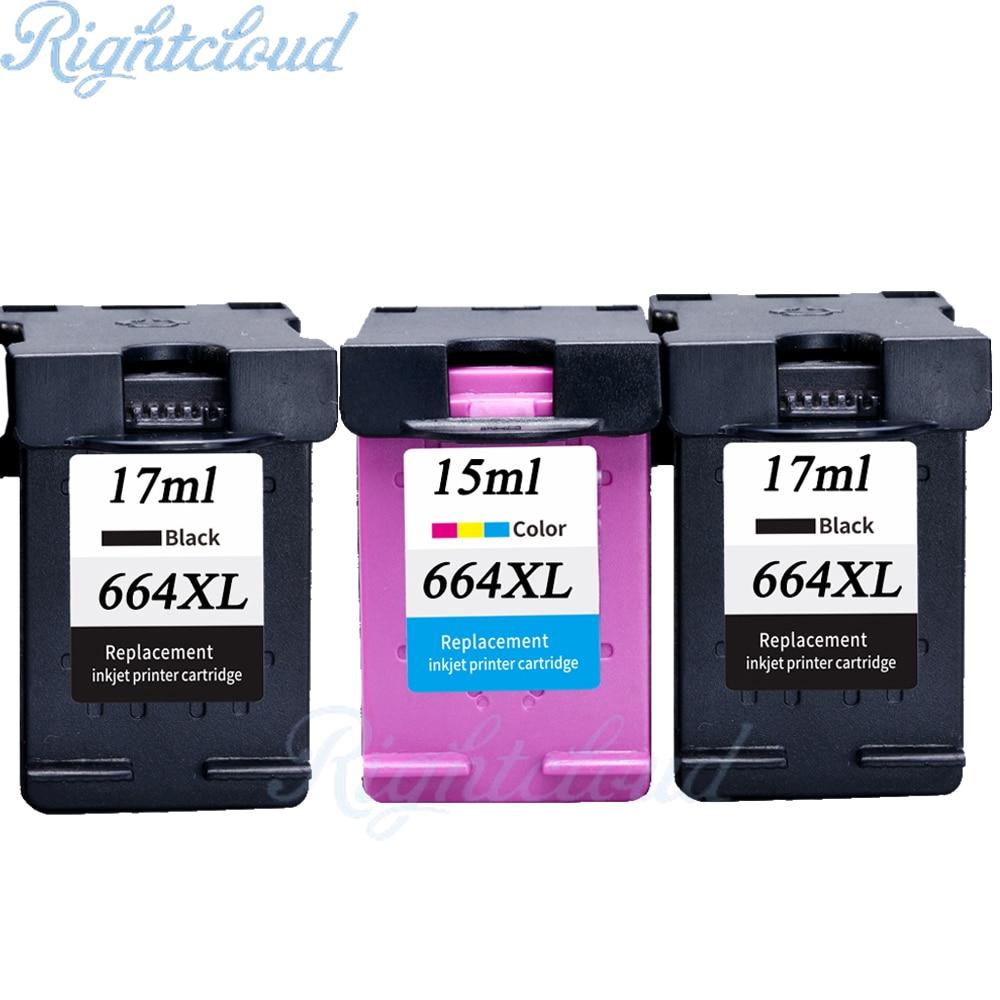 Hot 3PK For HP 664 Ink Cartridge For HP DeskJet 1115 2135 3635 1118 2138 3636 3638 4536 4676 Printer for hp 664xl 664 xl printer