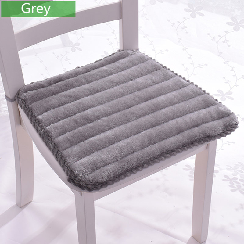 Home Office Kitchen Seat Mat Super Soft Chair Cushion Home Decor Anti-slip Sofa Chair Cushion 3 Colors Buttocks Seat Cushion