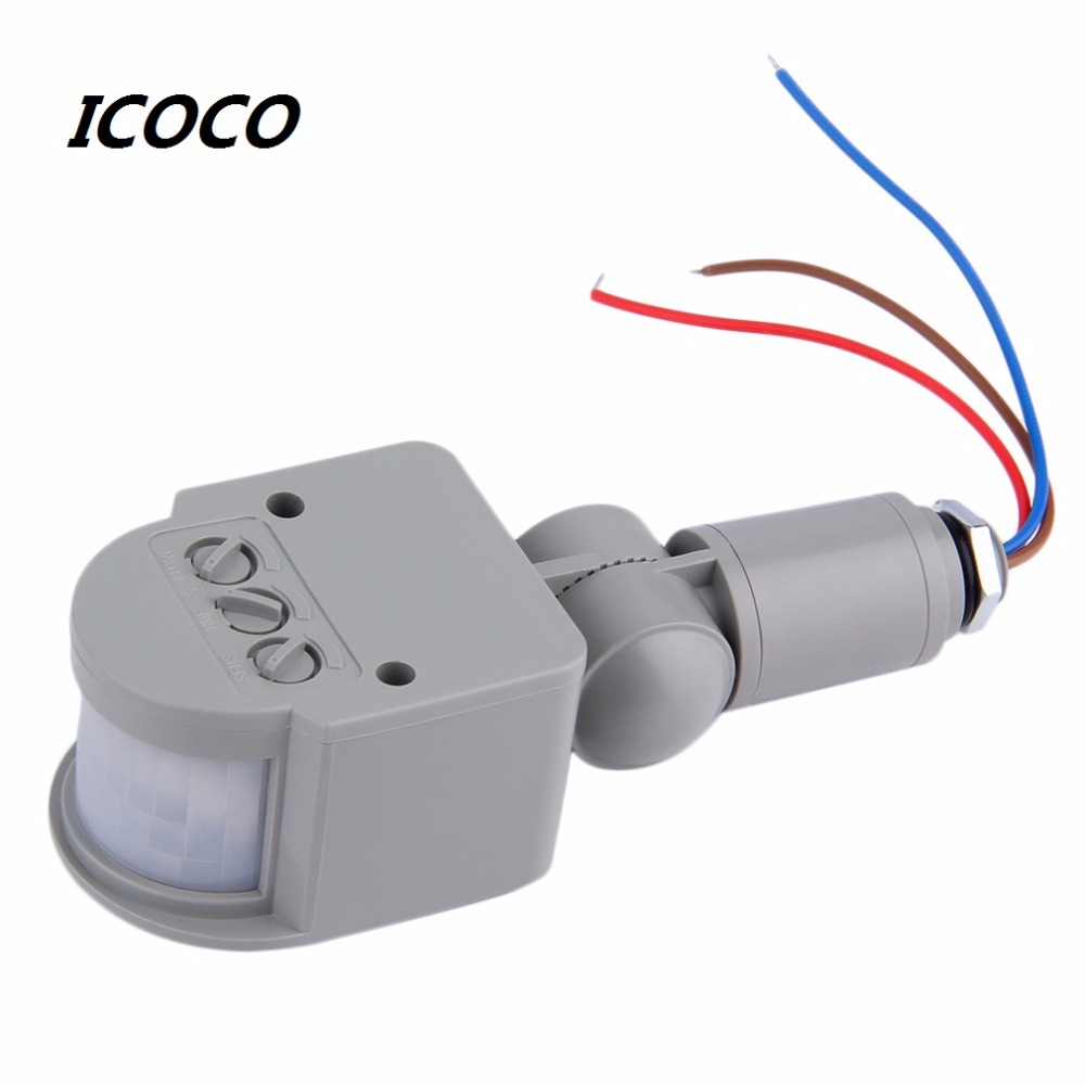 Motion Sensor Light Switch Outdoor AC 220V Automatic Infrared PIR Motion Sensor Switch for LED Light 2017 High Quality high quality wall mounted pir motion sensor light switch max 600w load 9m max distance 1pc gs45