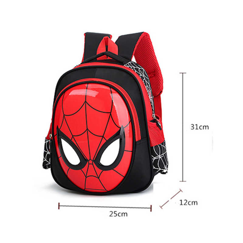 2019 3D От 3 до 6 лет школьные ранцы для мальчиков Водонепроницаемый рюкзаки Человек-паук, книга Сумка детская плечевая сумка ранец, рюкзак