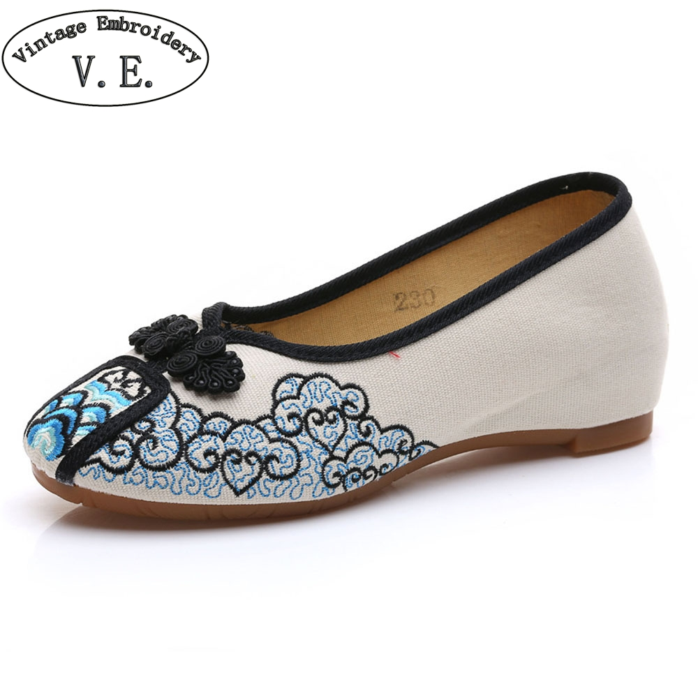 New  Women's Canvas Shoes Knot Women Casual Slip on Flat Floral Cotton Fabric Ballets Zapatos Mujer Size 34-40 vintage women flats summer new soft canvas embroidery shoes casual slip on bow dance flat sandals for woman zapatos mujer