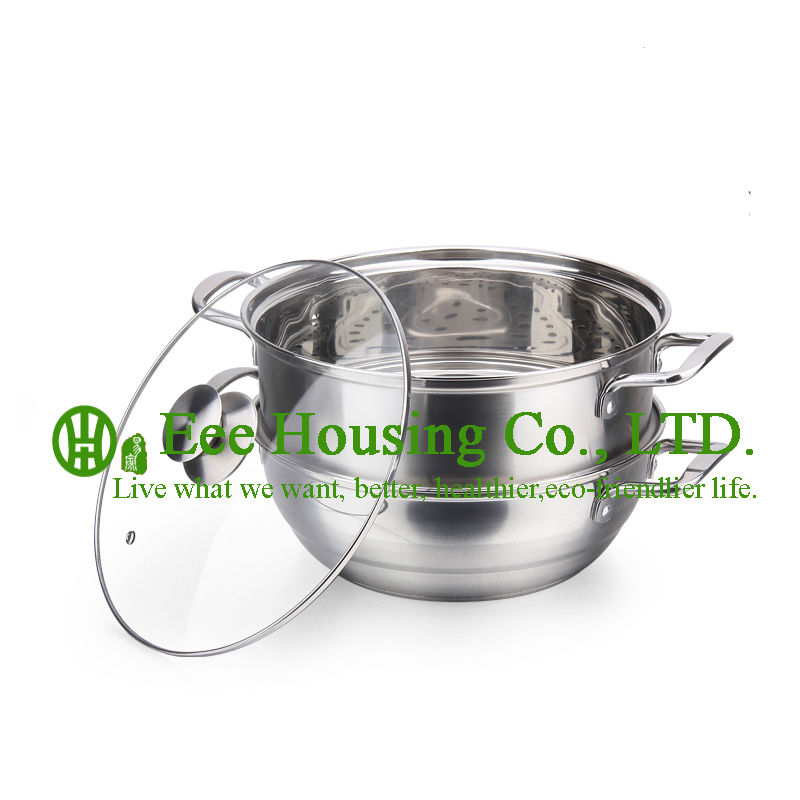 Stainless Steel Cookware Kitchenware For Sale Free Shipping Manufactuer In China/induction Cooking Pot /steamer Pot Kitchen