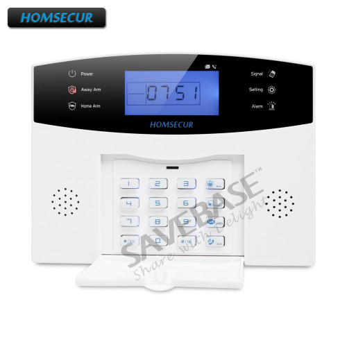 HOMSECUR DIY GSM Alarm System Voice Prompt Wireless Door Sensor PIR Motion Sensor Home Security SMS Alarm Metal Remote Control wireless gsm sms burglar alarm home security system with pir motion sensor door magnet sensor app control ios android