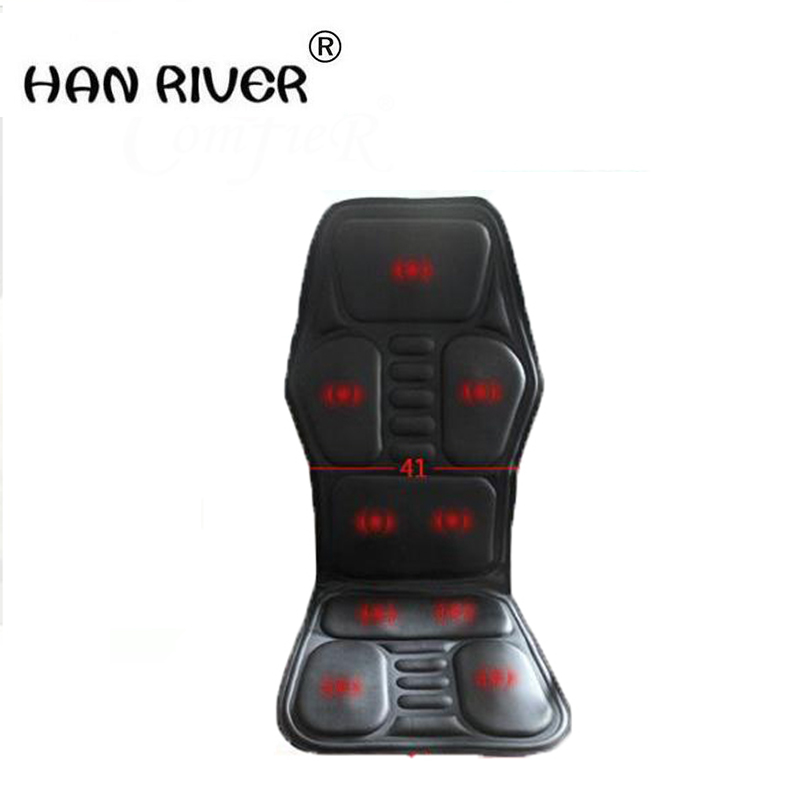 Heated Back Massage Seat Topper Car Home Office Seat Massager Heat Vibrate Cushion Back Neck Chair Car Pain + An Plug-Adapter coccyx orthopedic hip massage buttock soft massage cushion memory foam seat cushion for chair car office home bottom seats home