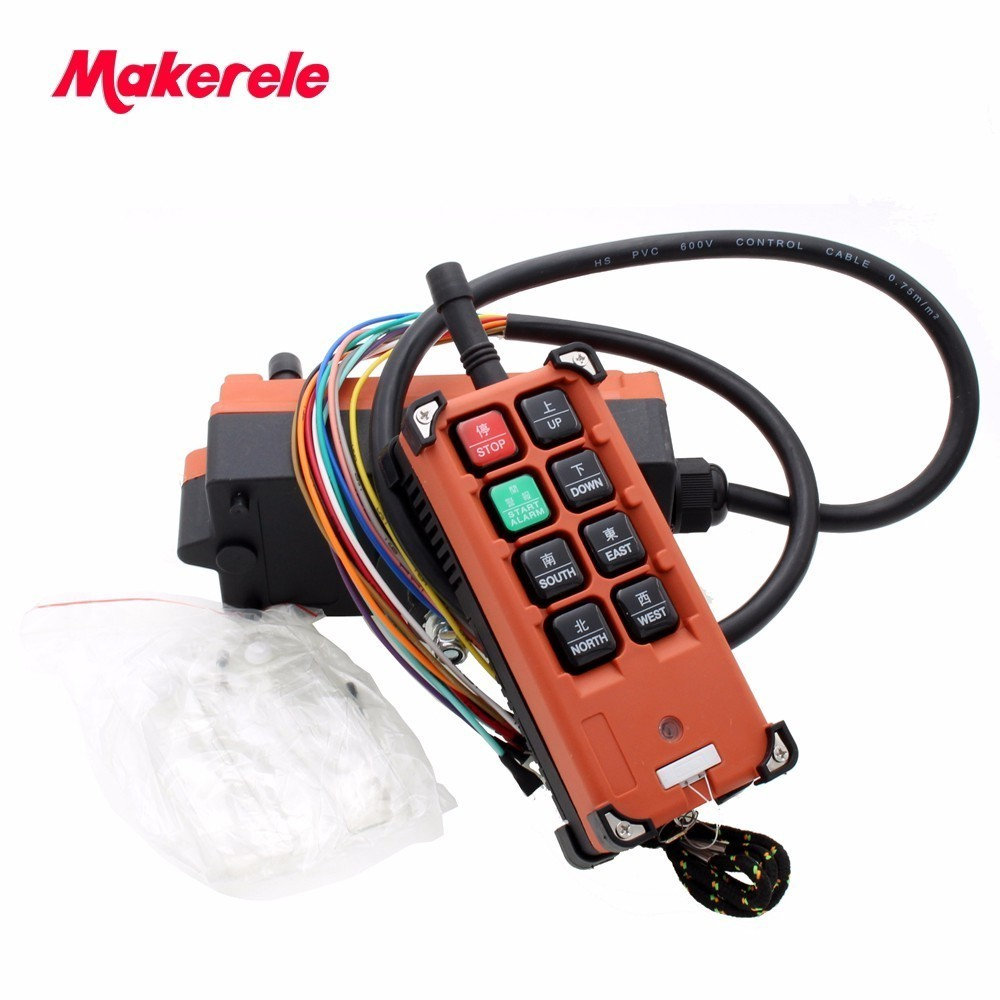 Hoist crane remote control wireless radio Uting remote control F21 E1B(include 1 transmitter and 1 receiver)/6 buttons 1 Speed