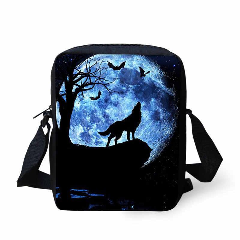 Мужская сумка-почтальон мини-крутая сумка через плечо для мальчиков с изображением животных из мультфильмов