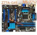 MS-7752 VERSAO: 1.4 Para MSI Z77A-G45 LGA1155 Z77 Desktop Motherboard Mainboard 100% Testado com Wrranty