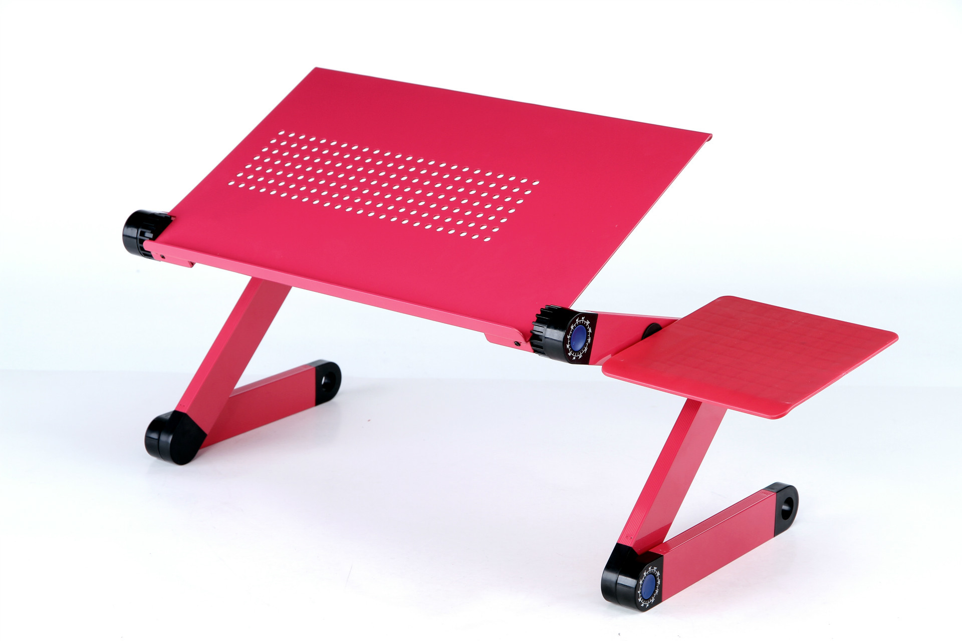 New Style Foldable Laptop desk Aluminum Alloy Portable Computer Desk Bed Office Adjustable Standing Desk With Cooling Fan aluminum alloy adjustable laptop desk lapdesks computer table stand notebook with cooling fan mouse board for bed sofa tray