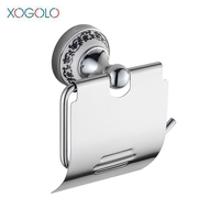 Xogolo Copper Polished Chrome Towel Paper Holder Fashion Wall Mounted Toliet Paper Holder Bathroom Accessories