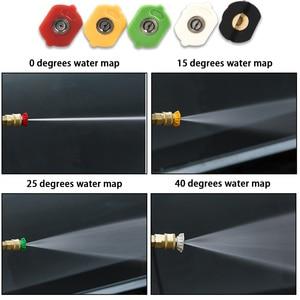 Image 3 - 洗車機金属ジェット水スプレーランスと杖ケルヒャーkシリーズ圧力洗濯機用 5 速ノズルのヒントk2 K3 K4 K5 K6