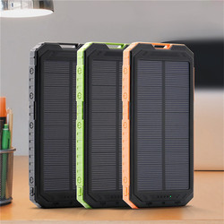 Power Bank DIY Waterproof 300000mAh Power Bank 2 USB Solar Charger Case With LED No Battery drop shipping 180102 free ship
