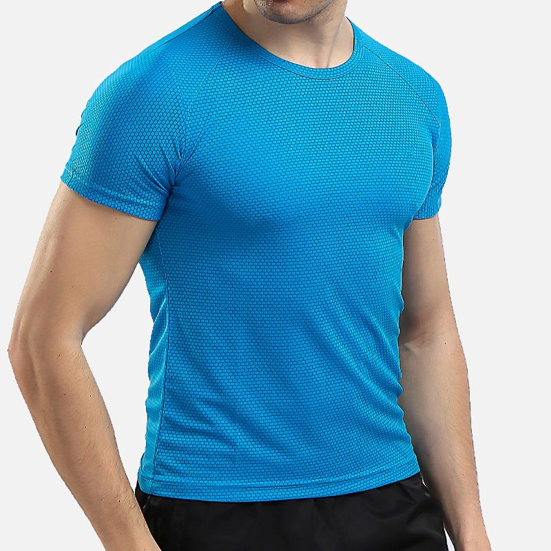 QuickDrying <font><b>Mesh</b></font> Outdoor Sportswear Stretch <font><b>Mens</b></font> <font><b>Tshirt</b></font> Running Breathable <font><b>Men</b></font> Tee Plus 8XL 2019 Summer Gym Male Training Tops image