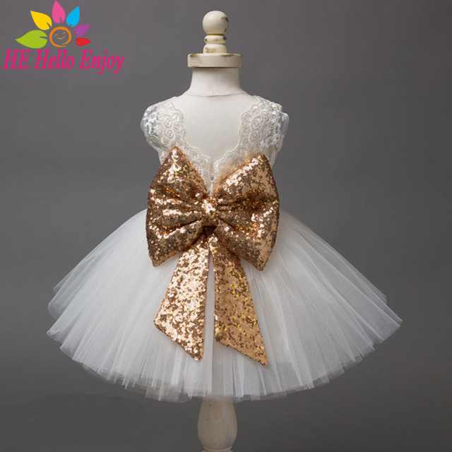 7cabef940a048 baby dresses girl wedding Christening newborn baby girl dress white  sleeveless lace bow first birthday party princess dress -in Dresses from  Mother & ...