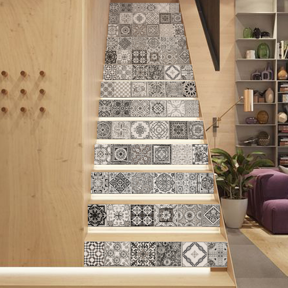 Decals for ceramic tile choice image tile flooring design ideas aliexpress buy funlife retro tile diy stairway sticker aliexpress buy funlife retro tile diy stairway stickervintage dailygadgetfo Images