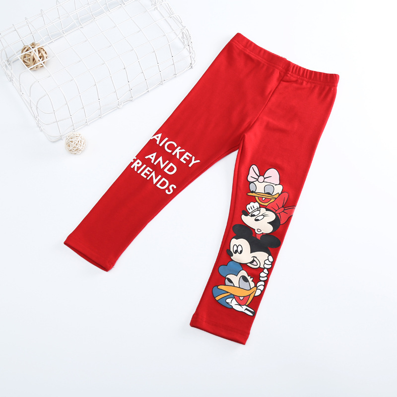 Fashion Cotton mickey Girls Pants Cartoon minnie Girl Leggings Baby Pants Kids Trousers Children Legging Girl Clothing 4 colors 4