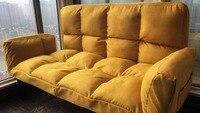 Новейший современный складной ленивый диван гостиная стул спальня татами ткань художественная съемная регулируемая спинка диван для двой