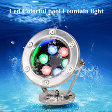 Waterfall Spray Pool Fountain Light Nepta Blossoming Water Spotlight AC12V 24V 6W 304 Stainless Steel Underwater