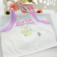 cotton young girls training bra 10-15 years old children bras Condole belt vest kids bra camisole for child